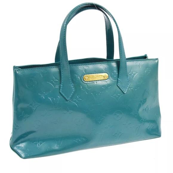 Louis Vuitton Handbags - Louis Vuitton Vernis Wilshire PM in Galactic Bleu b57ed39016